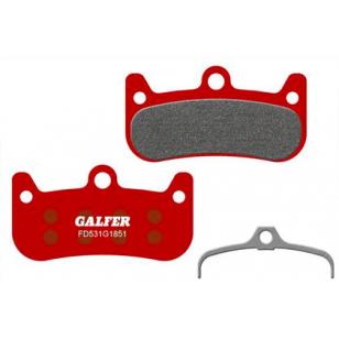 Plaquettes de frein Galfer - Formula Cura 4 - Rouge Advanced Galfer FD531G1851 Formula