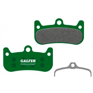Plaquettes de frein Galfer - Formula Cura 4 - Vert Pro Galfer FD531G1554T Formula
