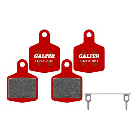 Plaquettes de frein Galfer - Hope DH4 4 Pistons - Rouge Advanced Galfer FD241G1851 Hope