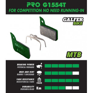 Plaquettes de frein Galfer - Magura Julie (01-08) - Vert Pro  FD236G1554T Accueil