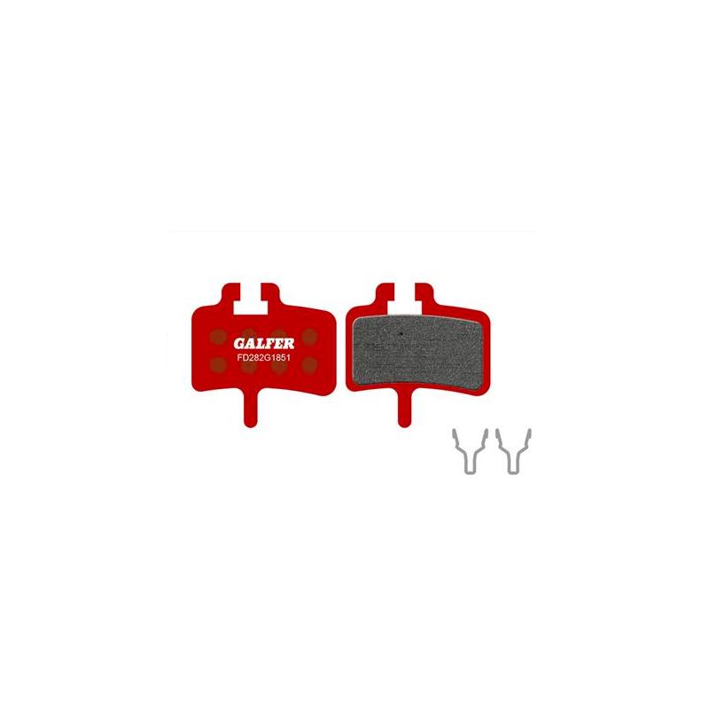 Plaquettes de frein Galfer - Hayes HFX-9/MAG/MX-1/Promax Meca - Rouge Advanced Galfer FD282G1851 Promax