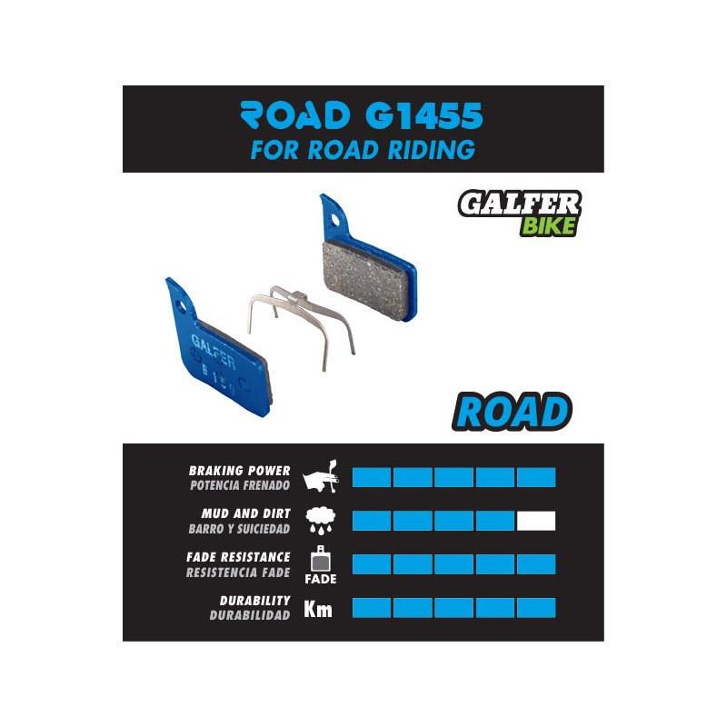 Plaquettes de frein Galfer - FD496 Shimano Ultegra - Bleu Road (Lot de 30 paires) Galfer FD496P1455 Shimano