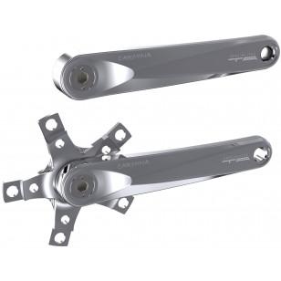 Paire de manivelles Spécialités TA Carmina Triple Compact 110/74mm - Argent poli Spécialités TA PMCCET Paire de Manivelles