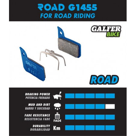 Plaquettes de frein Galfer - Route Sram Red 22 / Force / Rival / S700 - Blue Road