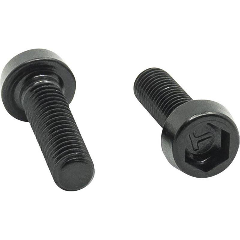 Vis aluminium pour porte-bidon - M5x17 (tête de vis 3.5 mm) - Noir (Sachet de 2)