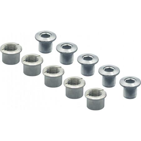 Kit Visserie Spécialités TA Aluminium - Double Plateaux - Argent (sachet de 5) Spécialités TA VPVI22205 Visserie