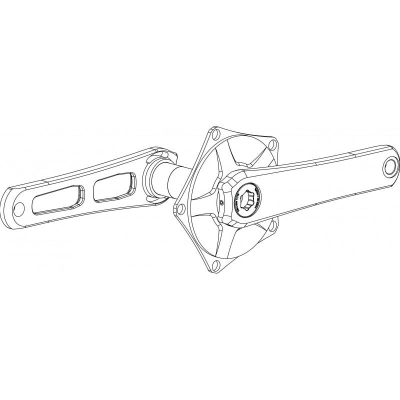 Paire de manivelles Spécialités TA Horizon Speed Aéro 130mm - Noir Phantom Spécialités TA PMHOET130Speed Paire de Manivelles