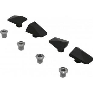Kit de Caches Spécialités TA pour Pédalier Shimano 105 5800 Noir