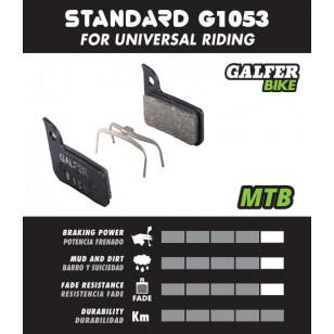 Plaquettes de frein Galfer - Avid Code R (après 2011) / Sram Guide RE - Noir Standard Galfer FD455G1053 Avid