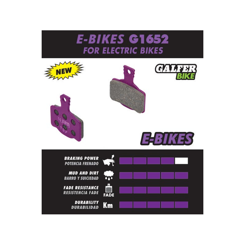 Plaquettes de frein Galfer E-Bike - Shimano B01S Deore / Tektro / TRP Galfer FD293G1652 Shimano