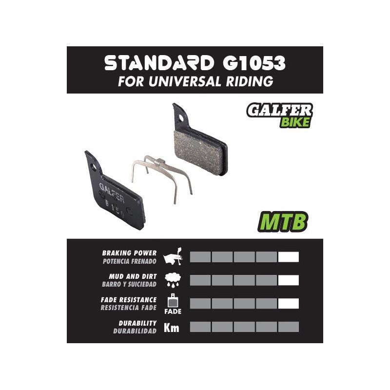 Plaquettes de frein Galfer - Shimano Nexave / Deore M555 - Noir Standard Galfer FD305G1053 Shimano